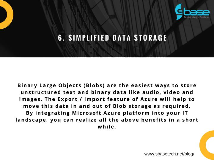 6. SIMPLIFIED DATA STORAGE