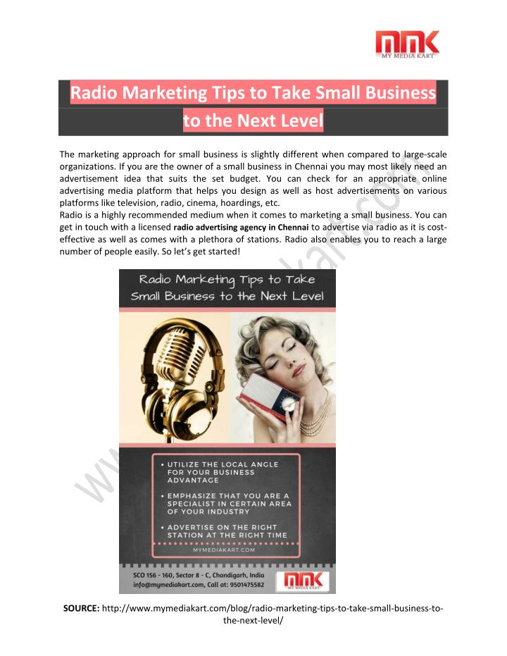 Radio Marketing Tips to Take Small Business