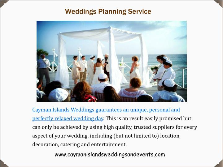 Weddings Planning Service