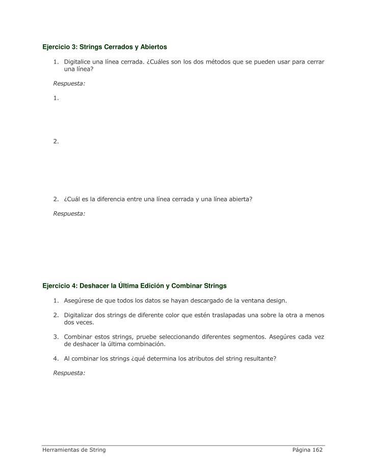 Ejercicio 3: Strings Cerrados y Abiertos