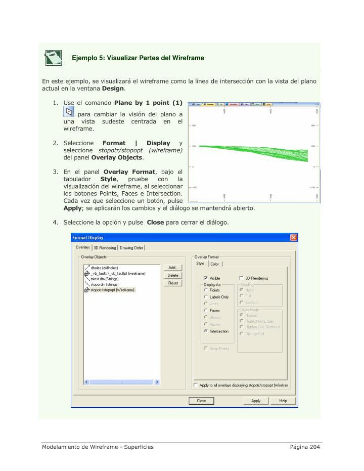 Ejemplo 5: Visualizar Partes del Wireframe
