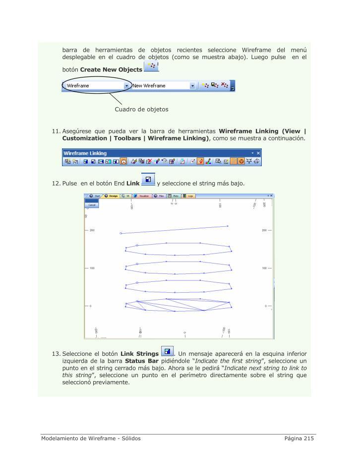 barra de herramientas de objetos recientes seleccione Wireframe del menú