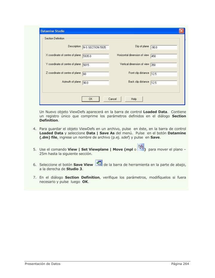 Un Nuevo objeto ViewDefs aparecerá en la barra de control