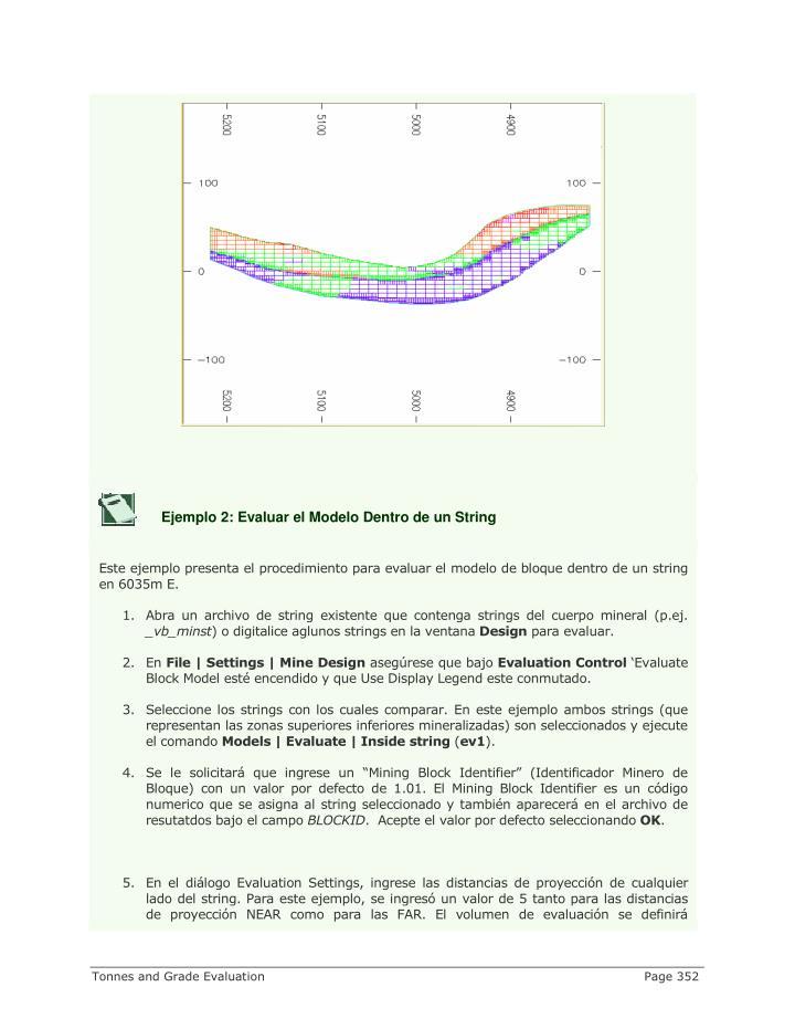 Ejemplo 2: Evaluar el Modelo Dentro de un String