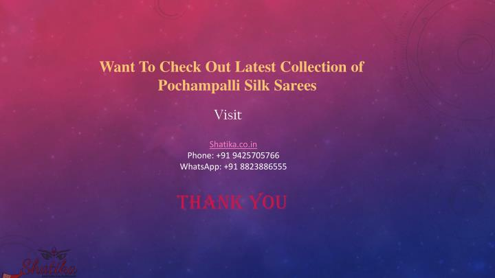 Want To Check Out Latest Collection of