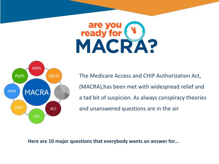 The Medicare Access and CHIP Authorization Act,