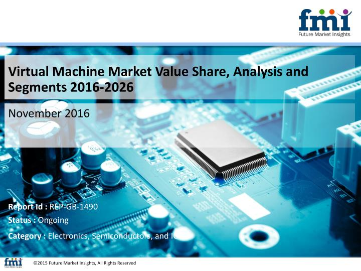 Virtual Machine Market Value Share, Analysis and