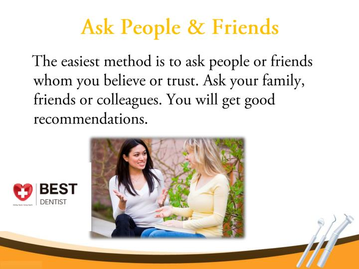 Ask people friends