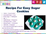 recipe for easy sugar cookies