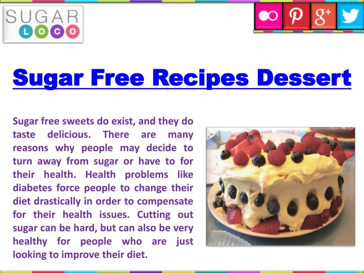 Sugar Free Recipes Dessert