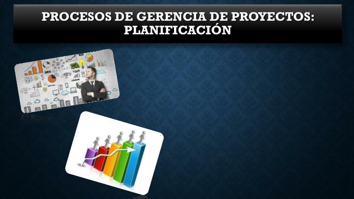 Procesos de Gerencia de Proyectos: Planificación