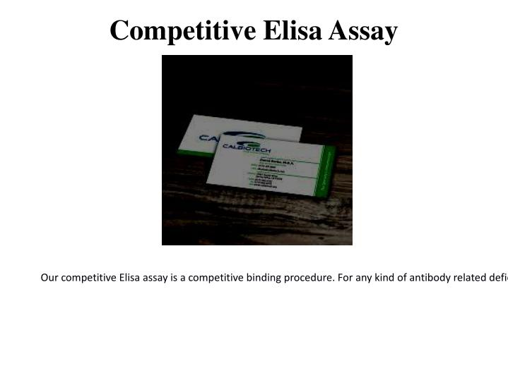 Competitive elisa assay