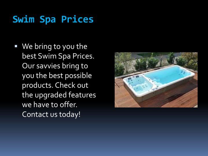Swim spa prices