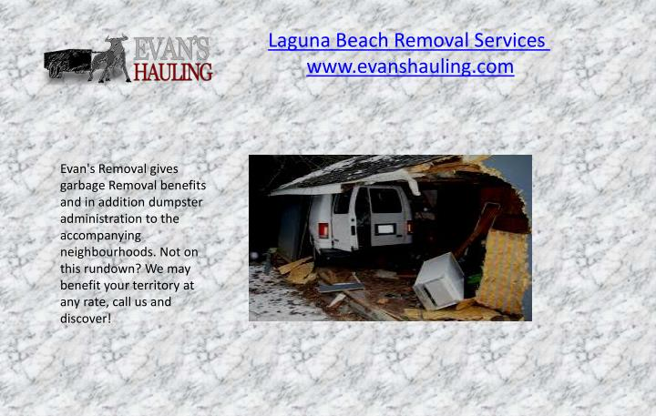 Laguna Beach Removal Services