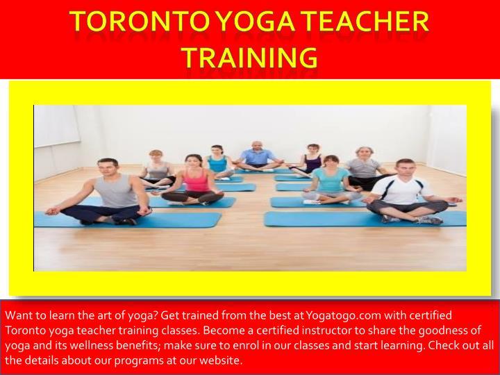 Toronto yoga teacher training