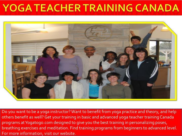 Yoga teacher training Canada