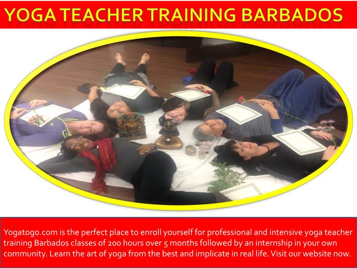 Yoga teacher training Barbados