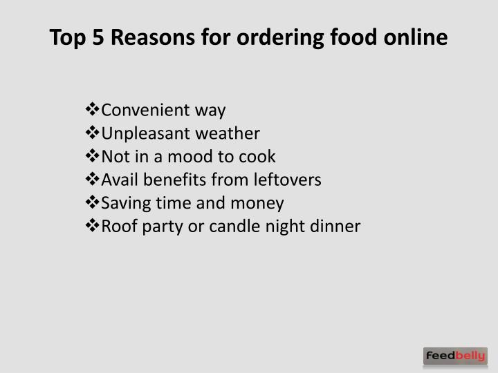 Top 5 Reasons for ordering food online
