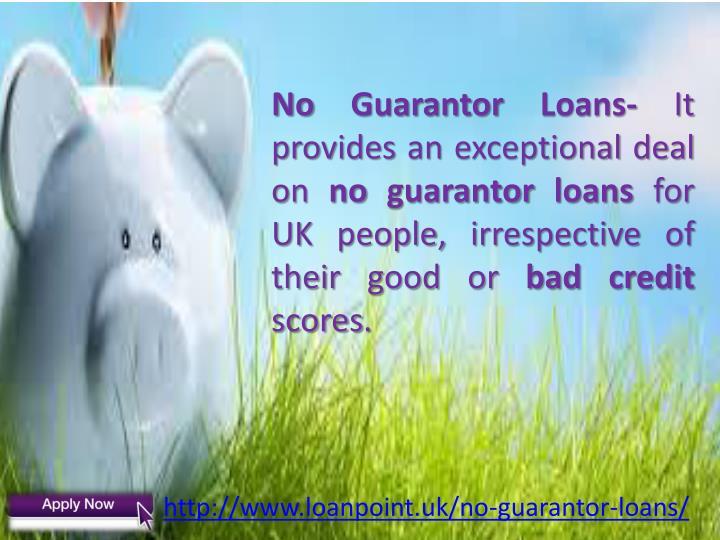 No Guarantor Loans-