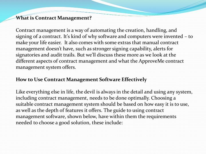 What is Contract Management