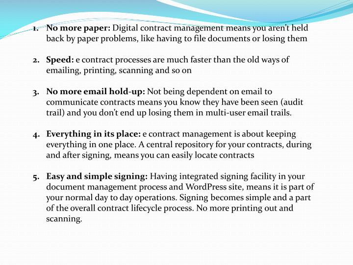 No more paper: