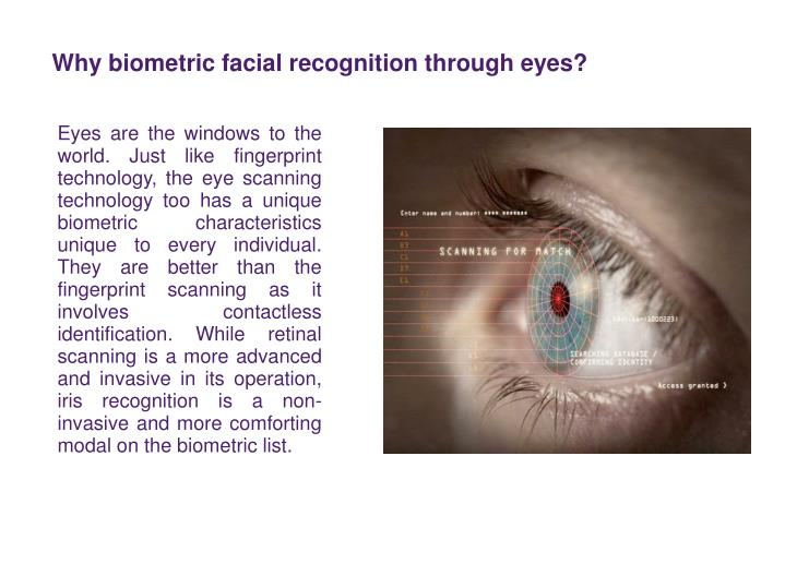 Why biometric facial recognition through eyes?