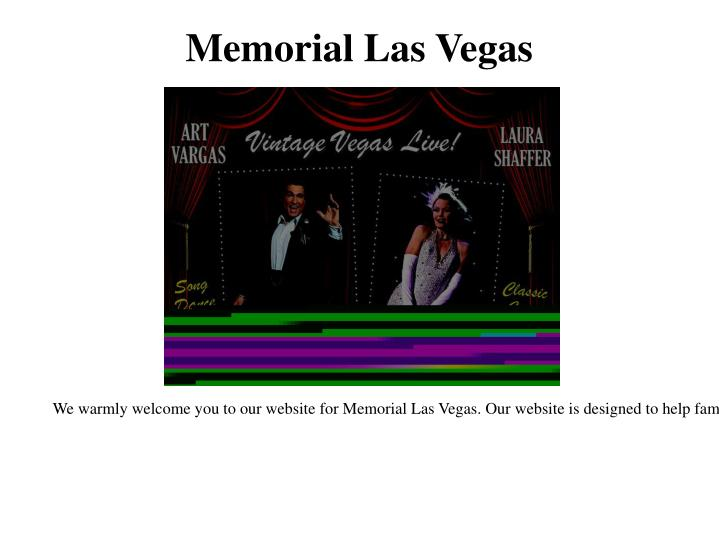Memorial las vegas
