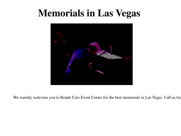 Memorials in Las Vegas