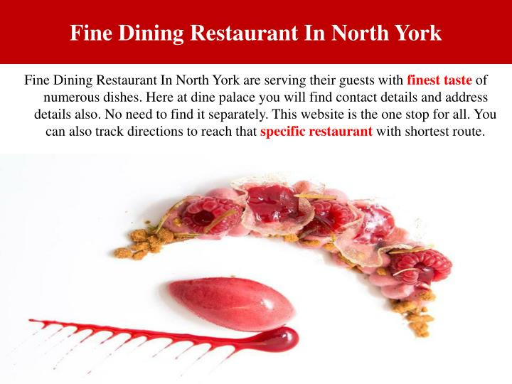 Fine Dining Restaurant In North York