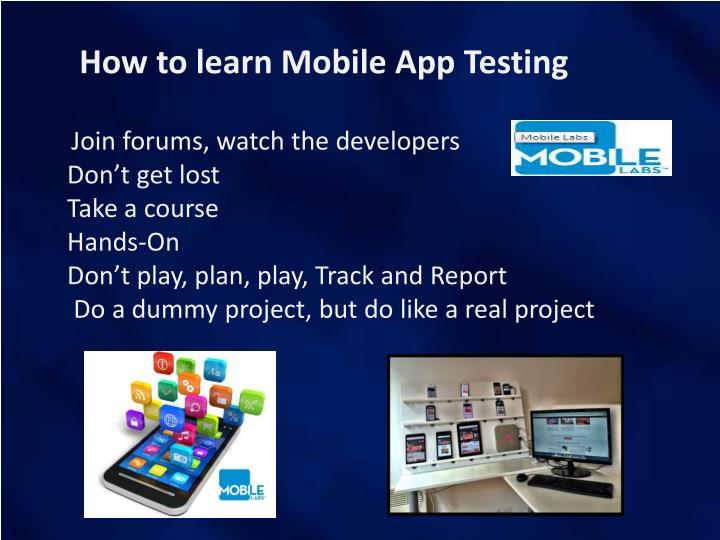 How to learn Mobile App