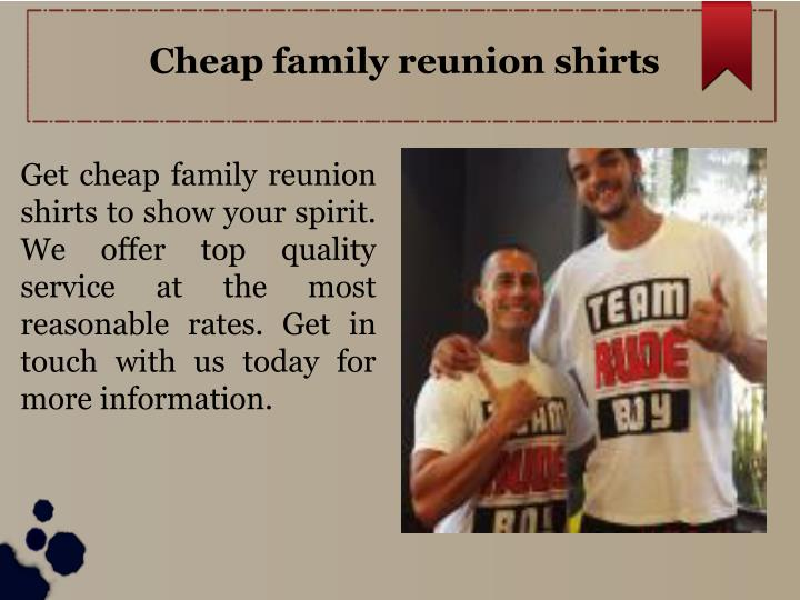 Cheap family reunion shirts