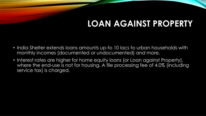 LOAN AGAINST