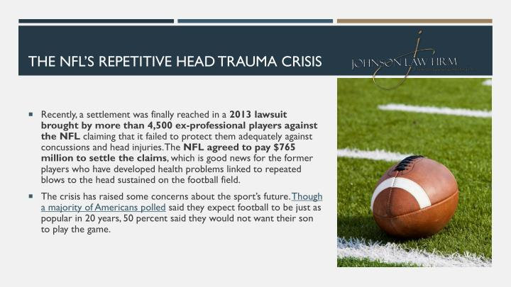 THE NFL'S REPETITIVE HEAD TRAUMA CRISIS