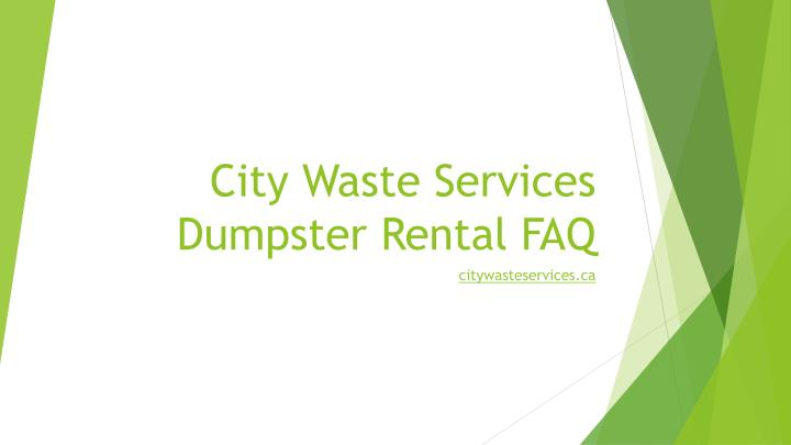 City Waste Services