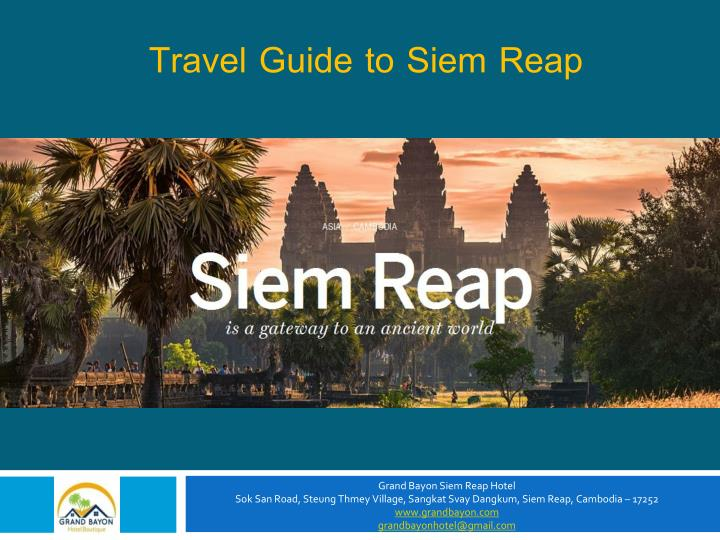 Travel Guide to Siem Reap