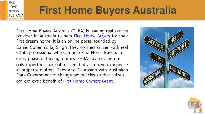 First home buyers a ustralia