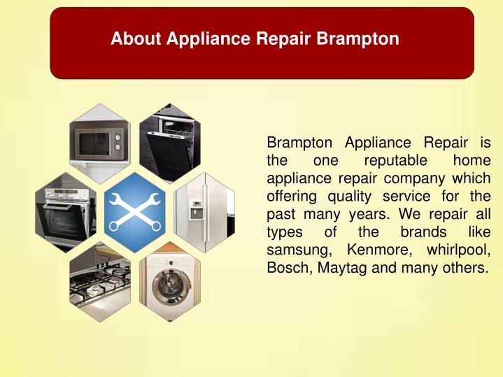 About Appliance Repair Brampton