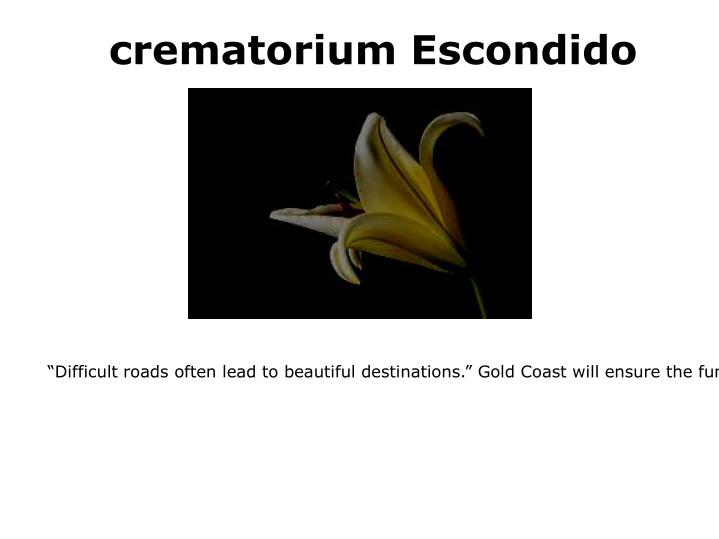 Crematorium escondido