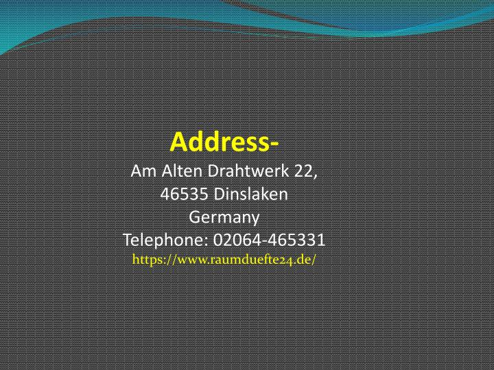 Address-