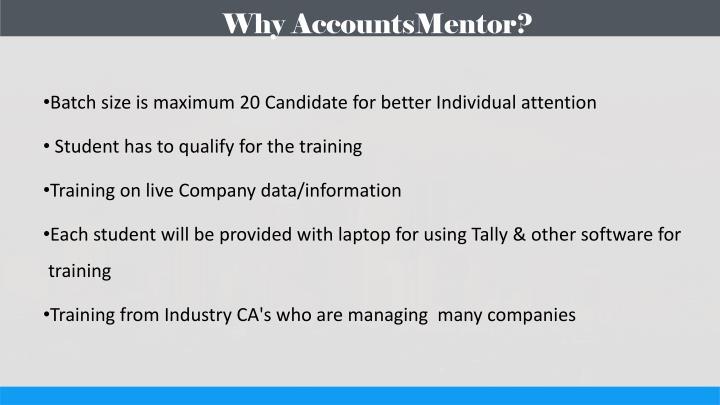 Why AccountsMentor?