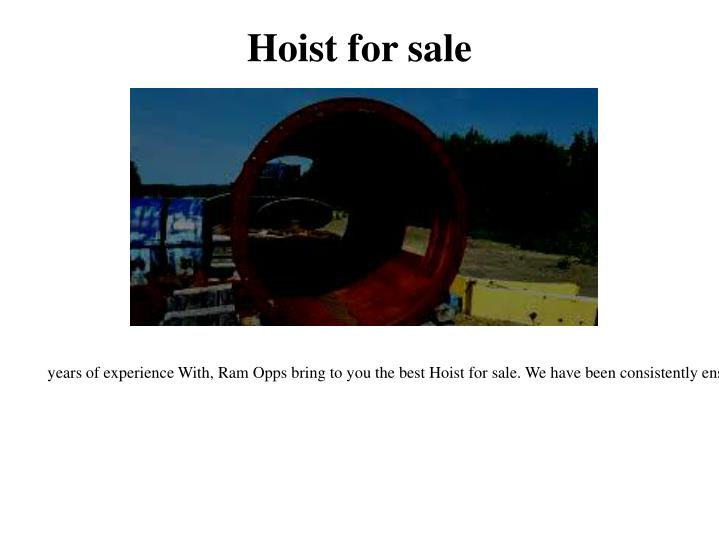Hoist for sale