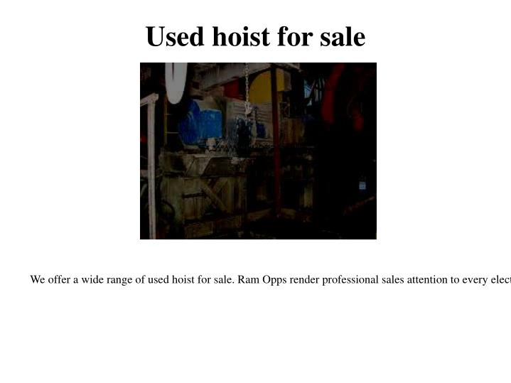 Used hoist for sale