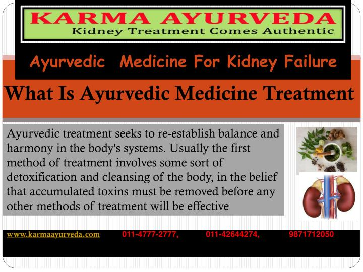 Ayurvedic medicine for kidney failure1