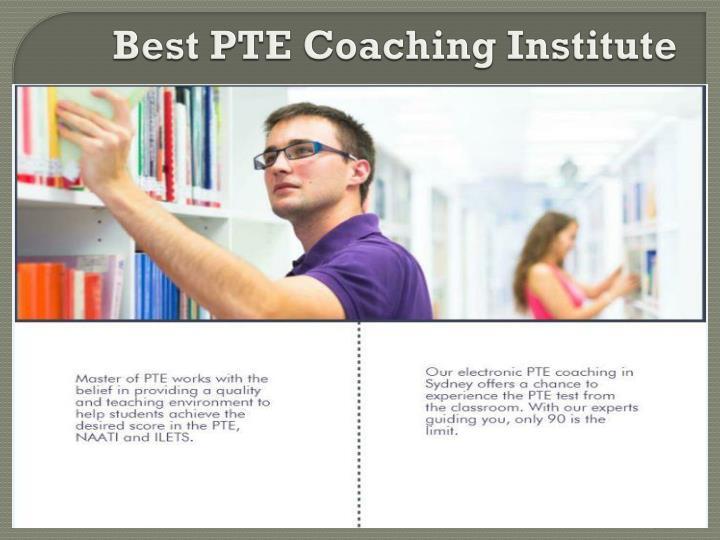 Best PTE Coaching Institute