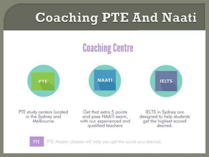 Coaching PTE And