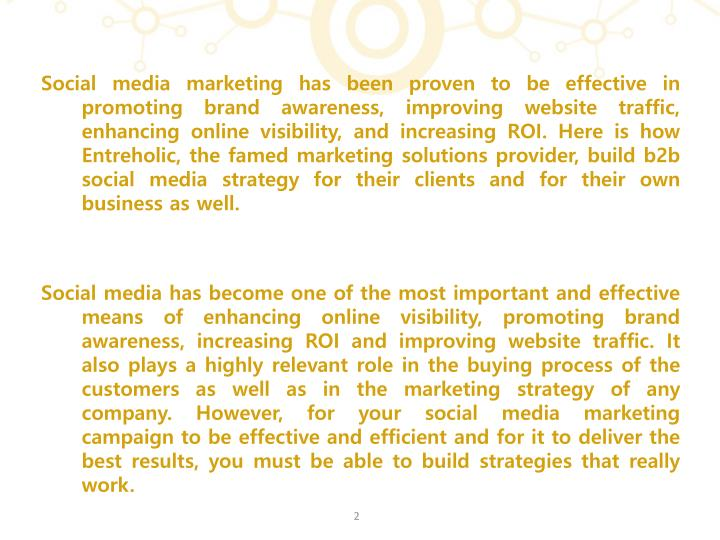 Social media marketing has been proven to be effective in promoting brand awareness, improving websi...