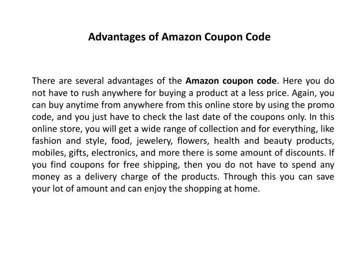 Advantages of Amazon