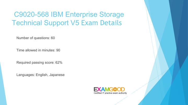 C9020 568 ibm enterprise storage technical support v5 exam details