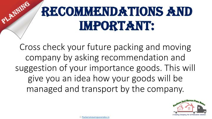 Recommendations and