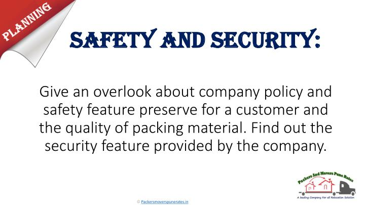 Safety and Security: